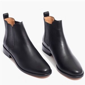 Black Leather Chelsea Boots Madewell - Like New!